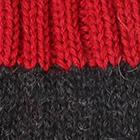 Charcoal.-Red Tassel Baby Alpaca Fingerless Gloves