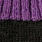 Black.-Purple Tassel Baby Alpaca Fingerless Gloves