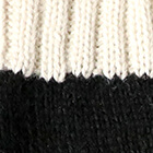 Tassel Baby Alpaca Hat in Black.-Natural