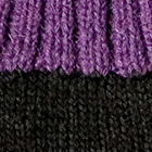 Tassel Baby Alpaca Hat in Black.-Purple