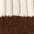 Tassel Baby Alpaca Hat in Brown.-Natural