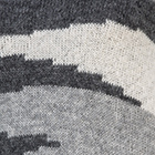 Charcoal-Lt. Grey-Natural Intarsia Alpaca Cape w/Sleeves