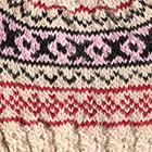 Beige.-Comb2 Andean Cable Alpaca Kids-Hat