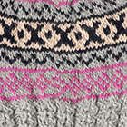 Silver.-Comb1 Andean Cable Alpaca Kids-Hat