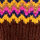Tribal Alpaca Long Fingerless Gloves in Brown-Multicolor1