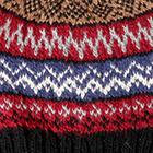 Black.-Comb4 Fair Isle Alpaca Hat