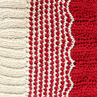 Waves Baby Alpaca Infinity Scarf in Natural-Red