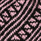 Diagonal Striped Alpaca Hat in Black-Rose