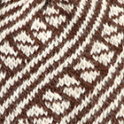 Diagonal Striped Alpaca Hat in Brown-Natural
