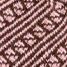 Brown-Rose Diagonal Striped Alpaca Hat