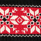 Red-Natural-Black Nordic Embroidered Baby Alpaca Infinity Scarf