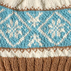 Icelandic Baby Alpaca Hat in Natural-Camel-Turquoise