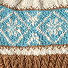 Icelandic Baby Alpaca Gloves in Natural-Camel-Turquoise