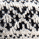 Agathe Alpaca Headband in Natural-Black