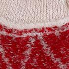 Red-Beige Shipibo Alpaca Boucle Chullo