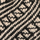 Diagonal Striped Alpaca Hat in Black-Beige