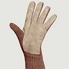 Henna Mlge.-Beige Alpaca Double Layer Driving Gloves