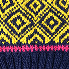 Navy.-Yellow Abbie Alpaca Kids-Hat