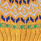 Mustard Yellow.-Multicolor1 Jasper Alpaca Kids-Hat