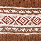 Vicuna-Natural Ethnic Baby Alpaca Infinity Scarf