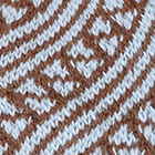 Cinnamon Mlge.-Powder Blue Diagonal Striped Alpaca Hat