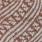 Cinnamon Mlge.-Silver Diagonal Striped Alpaca Hat