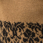 Camel-Black Delphi Alpaca Sweater