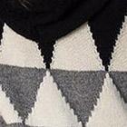 Black-Natural-Grey Mely Alpaca Cape w/Hood &  Short Sleeves
