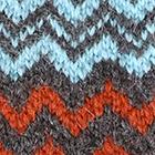 Charcoal-Turquoise-Dk. Rust Sunset Baby Alpaca Fingerless Gloves