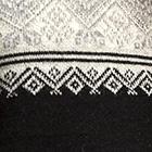 Black-Natural Antonia Half-Zip Alpaca Sweater