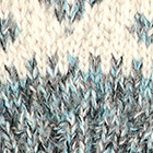 Dallas Baby Alpaca Half Finger Gloves in Mixt. Natural-Turquoise