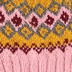 Rose.-Multicolor Cabin Alpaca Kids Hat