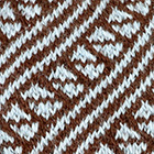 Brown-Powder blue Diagonal Striped Alpaca Hat