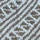 Powder Blue-Grey Diagonal Striped Alpaca Hat
