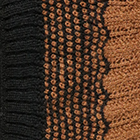 Waves Baby Alpaca Infinity Scarf in Black-Camel