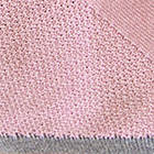 Lt. Rose-Steel Grey Cotton Baby Alpaca Tunic Dress