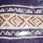 Purple-Natural Ethnic Baby Alpaca Infinity Scarf