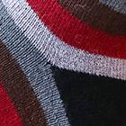 Burgundy-Black Colours Striped Alpaca Socks
