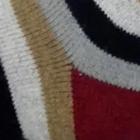 Navy-Burgundy Colours Striped Alpaca Socks