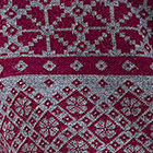 Grey Mlge.-Burgundy Freya Baby Alpaca Sweater