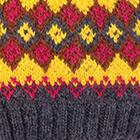 Charcoal.-Multicolor 3 Cabin Alpaca Kids Hat