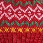 Dk.Red.-Multicolor1 Jasper Alpaca Kids-Hat