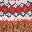 Camel.-Multicolor 3 Cabin Alpaca Kids Hat