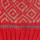 Bright Red.-Beige Abbie Alpaca Kids-Hat