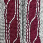 Lins Alpaca Fingerless Gloves in Lt. Grey-Burgundy