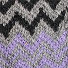 Lt. Grey-Lavender-Dk. Charcoal Sunset Baby Alpaca Fingerless Gloves