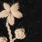 Black Sunflower Baby Alpaca Fingerless Gloves