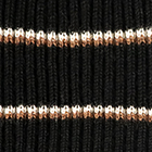 Ribbed Alpaca Beanie Hat in Black