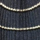 Denim Ribbed Alpaca Beanie Hat