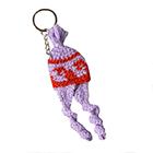 Chullo Tiny Alpaca Knit keychain